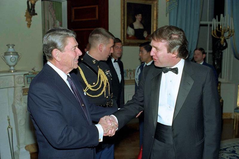 Donald Trump meets then-President Ronald Reagan.