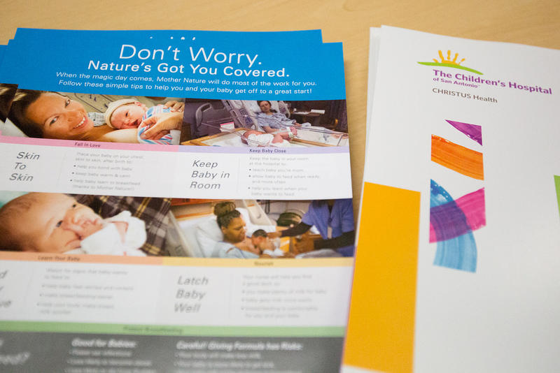 Brochures about childbirth are available for patients at The Children's Hospital of San Antonio.