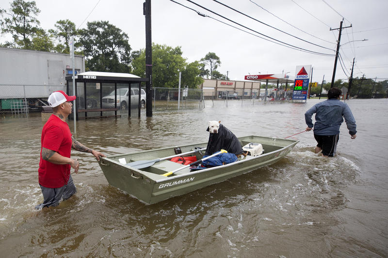Hurricane Harvey boat rescues take place in Houston,