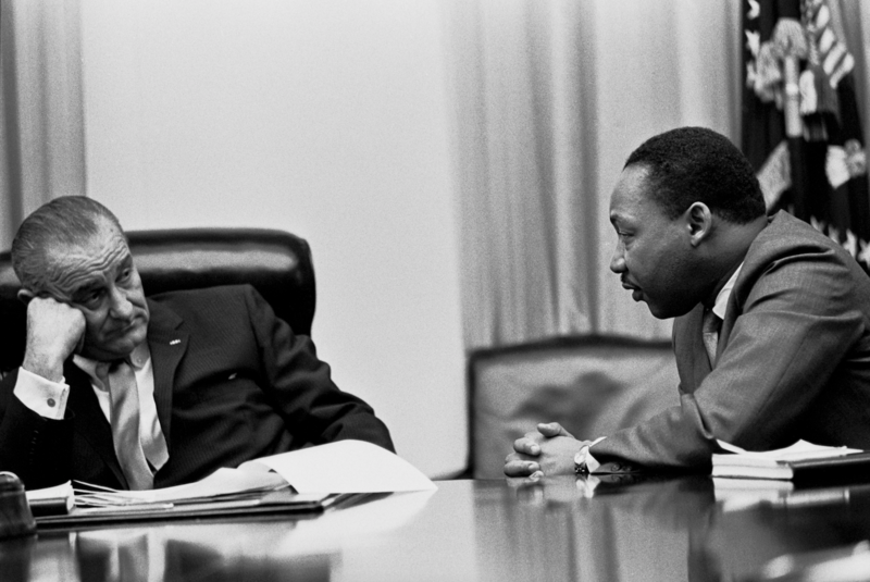 President Lyndon B. Johnson and Martin Luther King, Jr. in 1966.