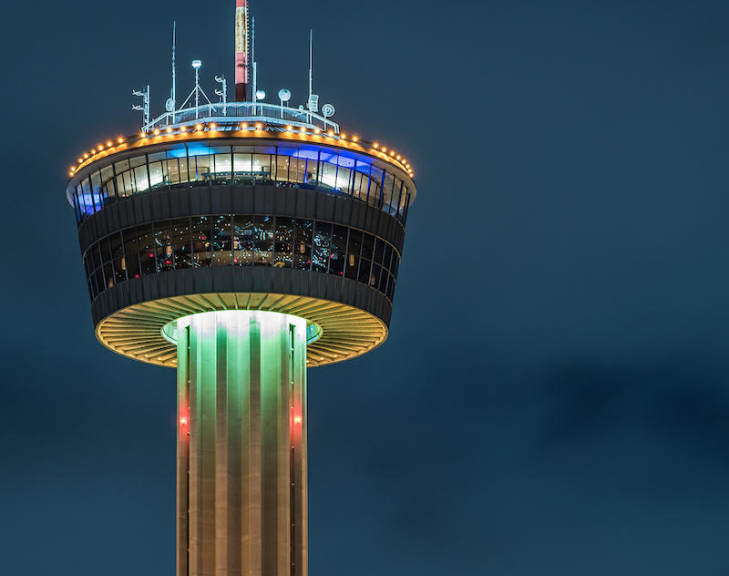The Tower of the Americas in San Antonio was built for the 1968 HemisFair.