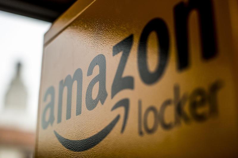 An Amazon locker near the UT Austin campus.