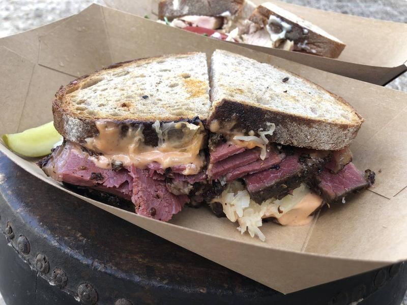 The Pastrami Reuben at Otherside Deli is among Odam's 27 favorite Austin sandwiches.