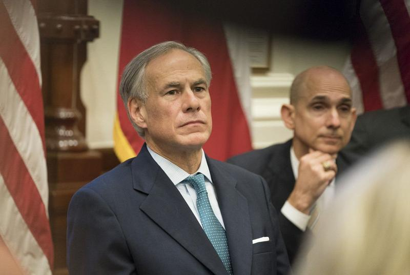 Gov. Greg Abbott hosts the final of three roundtable discussions on school safety, at the Capitol on Thursday.