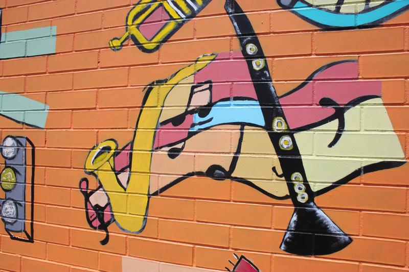 Detail of the Kealing mural