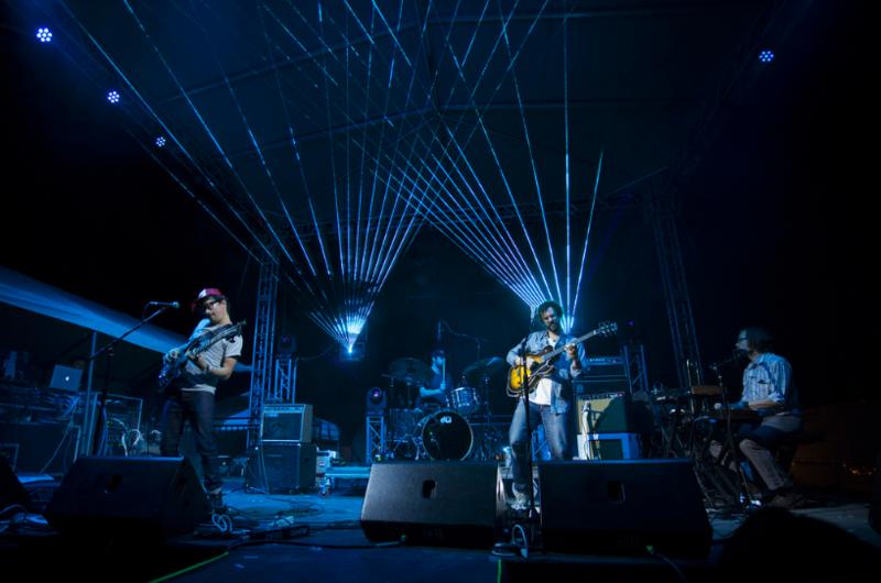 White Denim performs at Utopia Fest in 2016.