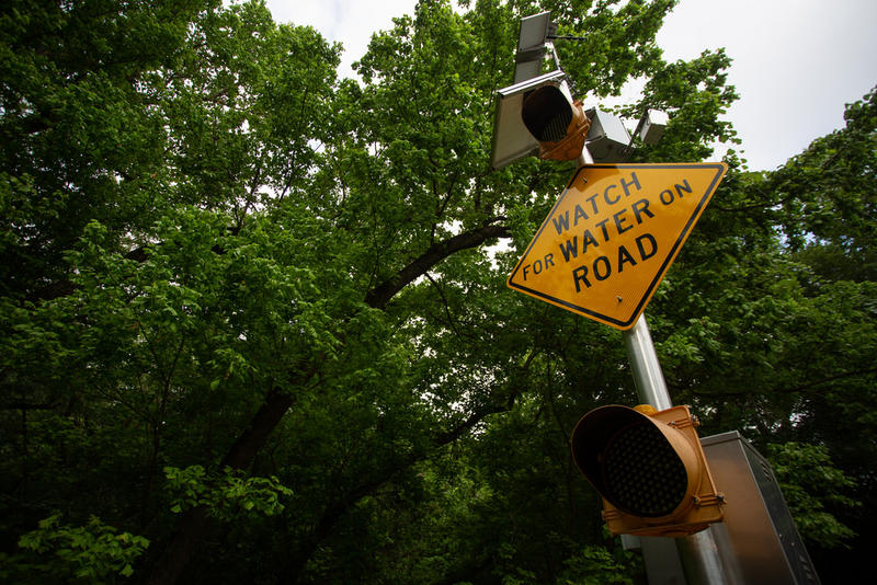 The city installed flood cameras at low-water crossings in Austin to monitor road conditions.