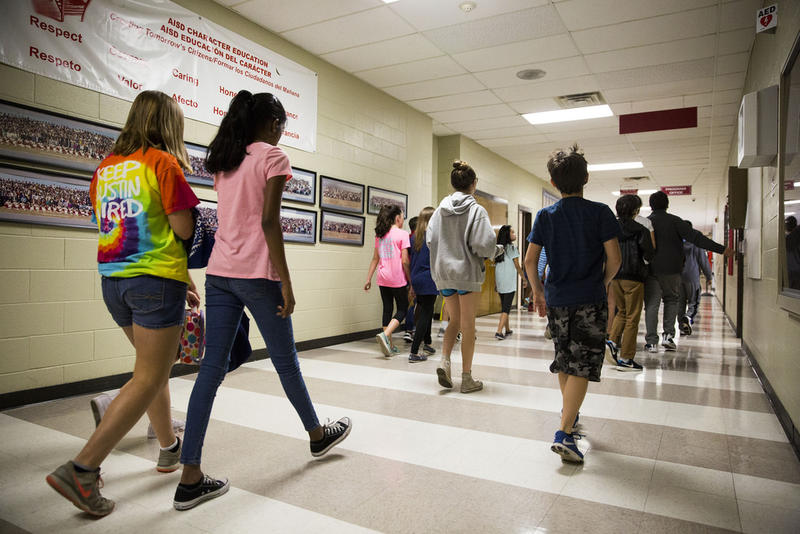 Texas assigns a base amount to each student in the school system.