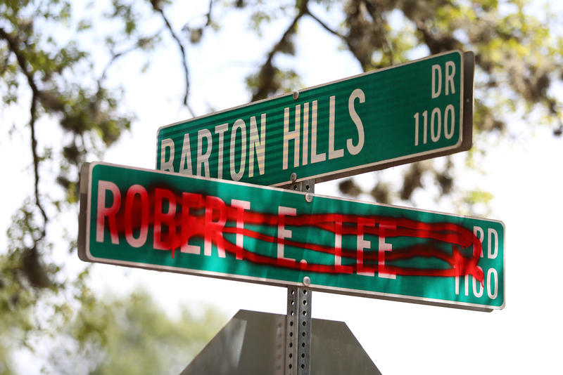 Vandalization of the Robert E. Lee Road sign sparked a conversation over whether the street should be renamed. The Austin City Council voted to change the name of the street honoring the Confederate general in April.