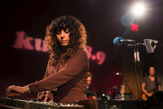 Night Glitter performs at the KUTX studio last month.