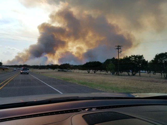 Texas A&M Forest Service responded to the Park Road Fire in Burnet County late Sunday afternoon.