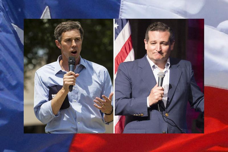 U.S. Rep. Beto O'Rourke is trailing U.S. Sen. Ted Cruz by 4 points, according to a new poll.