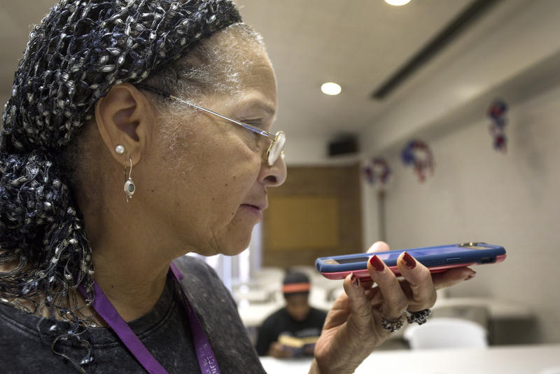 Until recently, Jan Morgan was buying one flip phone after the next. Now, she's an ambassador for the city's Digital Inclusion program and is teaching others how to use smartphones and computers.