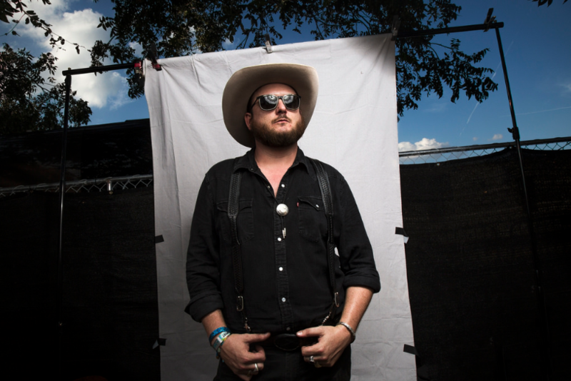 Paul Cauthen poses backstage at Austin City Limits last year.