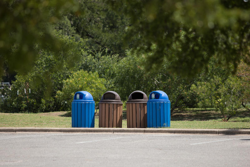 Zilker Park is one of only a few Austin parks and recreation facilities with recycling bins.