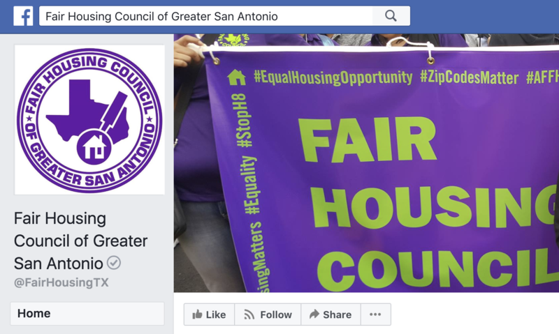 The Fair Housing Council of Greater San Antonio says Facebook knowingly allowed groups to discriminate against minorities.