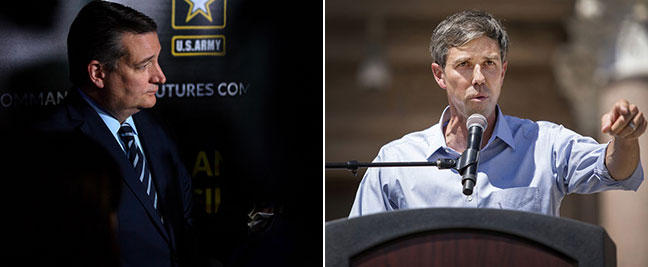 Republican Sen. Ted Cruz is being challenged by Congressman Beto O'Rourke for his seat.