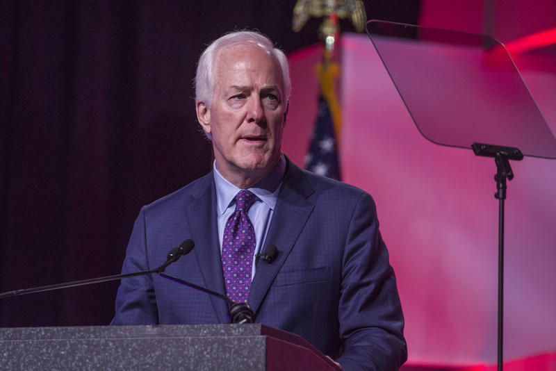 U.S. Sen. John Cornyn at the Texas GOP convention on June 15.