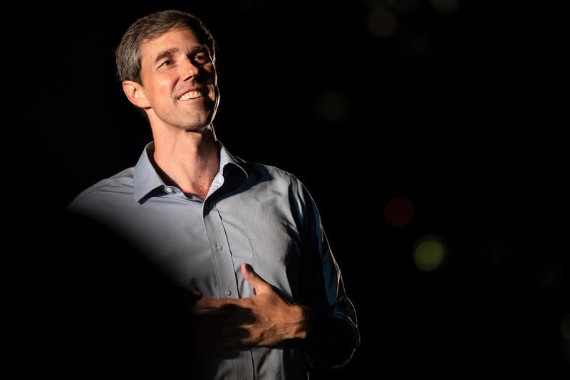 Beto O'Rourke at the Turn Out for Texas rally at Auditorium Shores in Austin on Sept. 29, 2018.