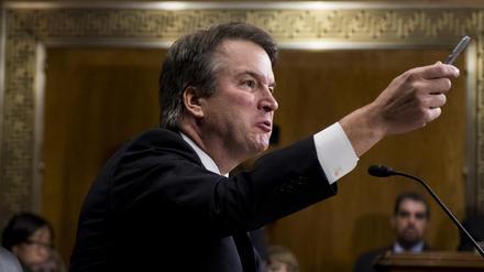 Judge Brett Kavanaugh testifies before the Senate Judiciary Committee on Capitol Hill on Thursday.