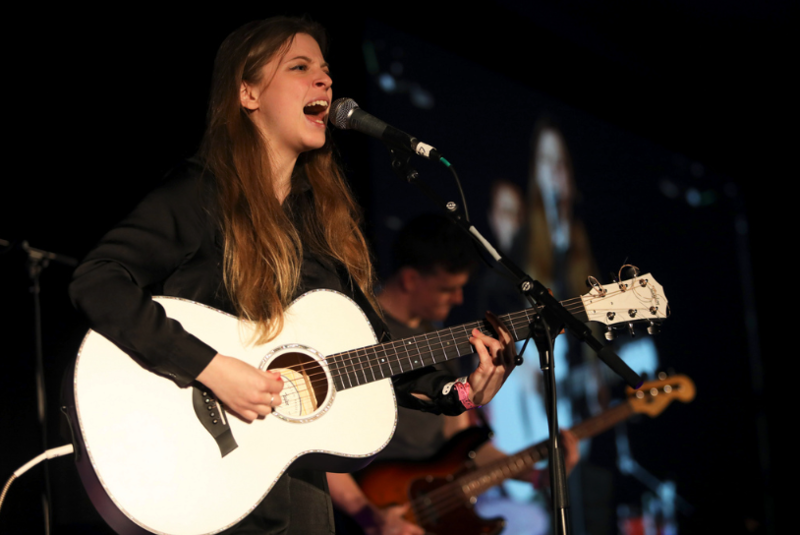 Jade Bird performs during the KUTX showcase at the Four Season during SXSW in March.