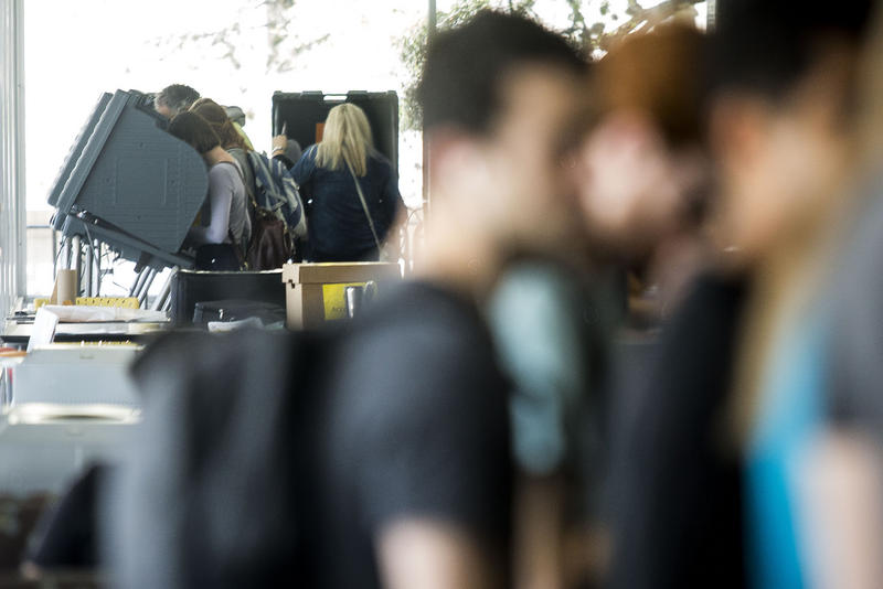 Voters cast ballots in the March primaries on Election Day at the Flawn Academic Center on UT-Austin campus.