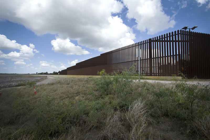 A border fence in Brownsville.