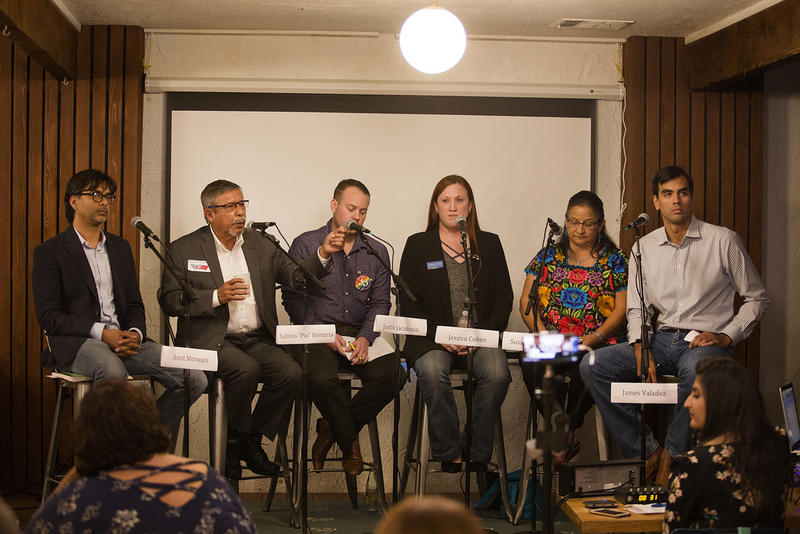 Candidates at the KUT District 3 forum at Tamale House East on Oct. 3.