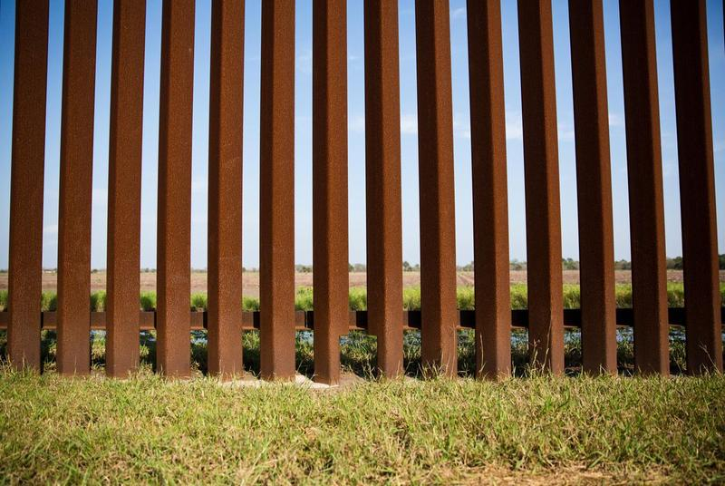 A section of the border fence in Brownsville, Texas.