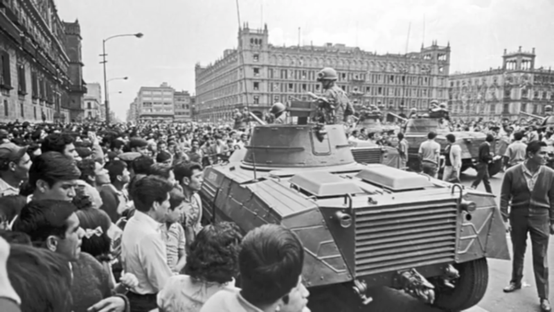 A 1968 protest in Mexico City turned deadly when the military brought tanks into the streets.