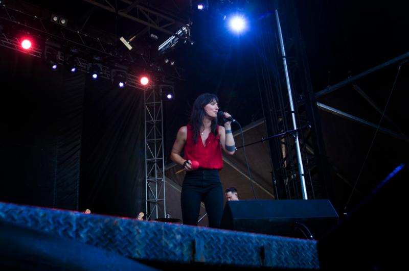 Sharon Van Etten performs at the Austin City Limits Music Festival on Oct. 6.