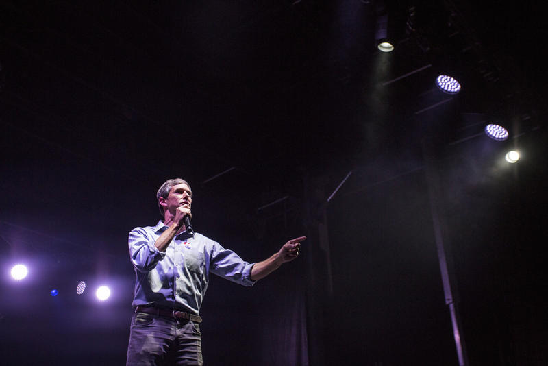 Beto O'Rourke delivers his concession speech at his campaign election night party at the Southwestern University Park, a baseball stadium in downtown El Paso on Nov. 6, 2018.