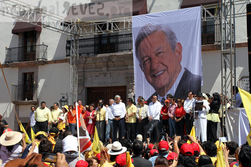 López Obrador during his second bid for president in Mexico in 2012.