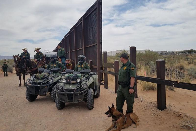 Border Patrol agents in New Mexico in April.