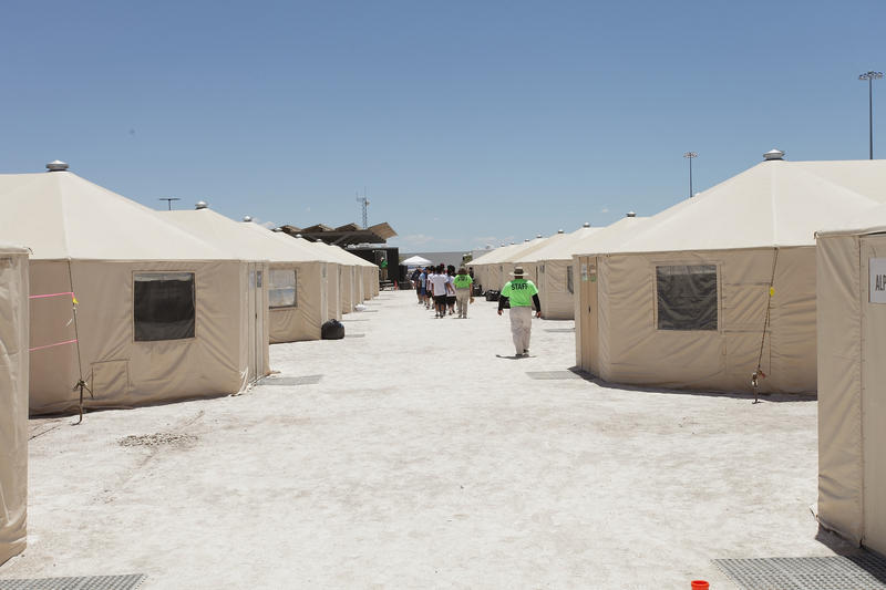 """The immigrant detention facility for kids in Tornillo, known as """"tent city."""""""