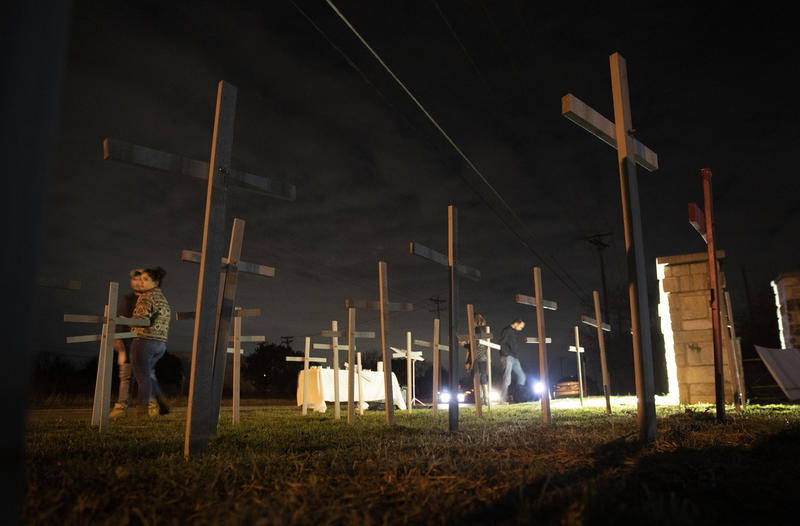 A candlelight vigil was held last night at St. William's Catholic Church in Round Rock ahead of today's announcement.