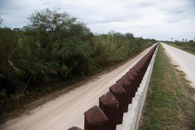 Border fencing in Hidalgo.