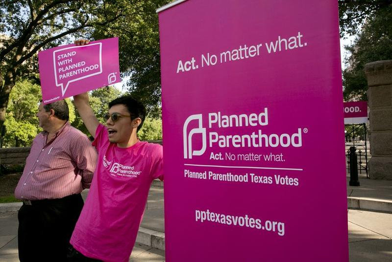 Planned Parenthood supporters rally outside the Texas Capitol in July 2015.