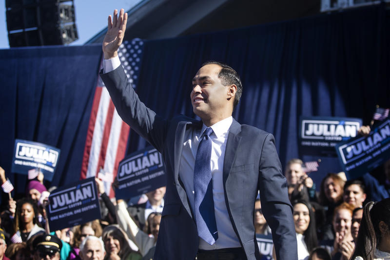 Julian Castro announces that he's running for president at an event in San Antonio on Saturday.