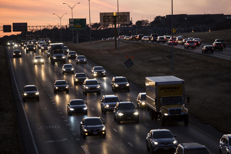 Drivers sit in traffic on MoPac last month.