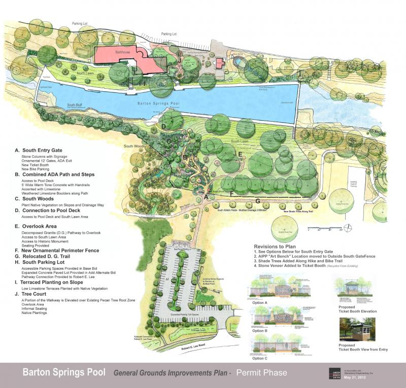 A master plan for the Barton Springs Pool area will be discussed this evening