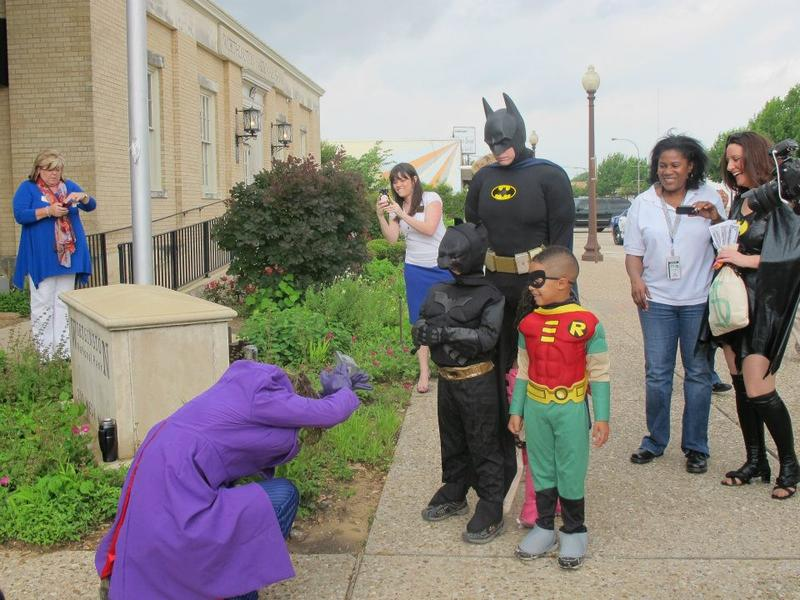 7-year old, Kye, apprehends the Joker during his crime fighting adventure