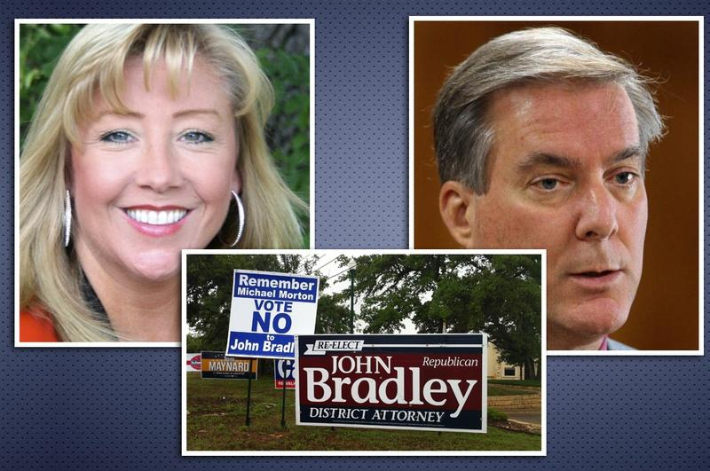 County Attorney Jana Duty is challenging District Attorney John Bradley for his position in Williamson County.