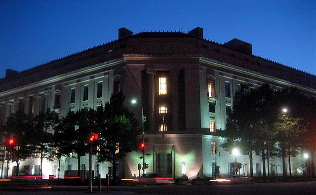 The Department of Justice building in Washington DC.