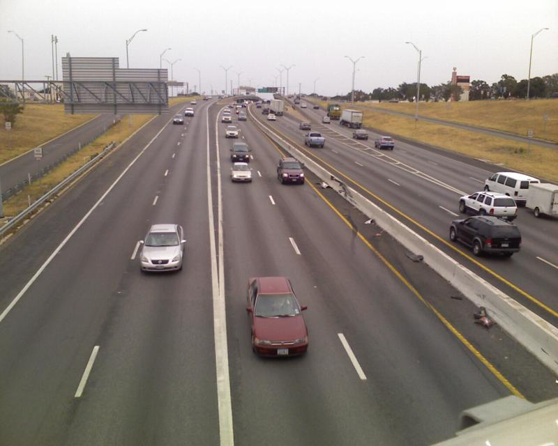 I-35 as seen from the MLK overpass.