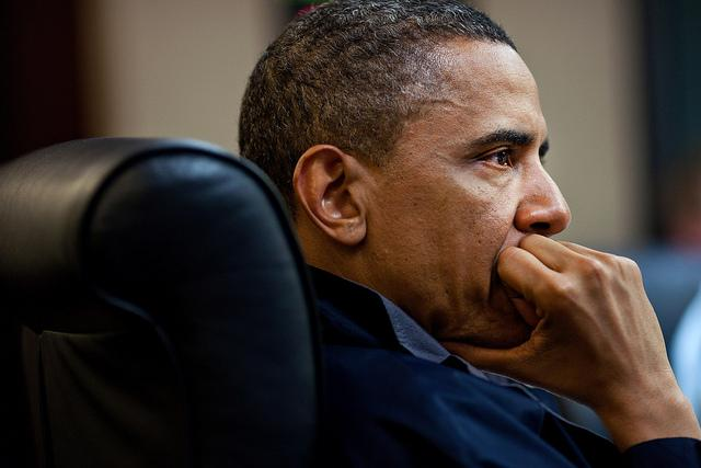 President Obama, photographed in 2011 while the Bin Laden raid was underway.