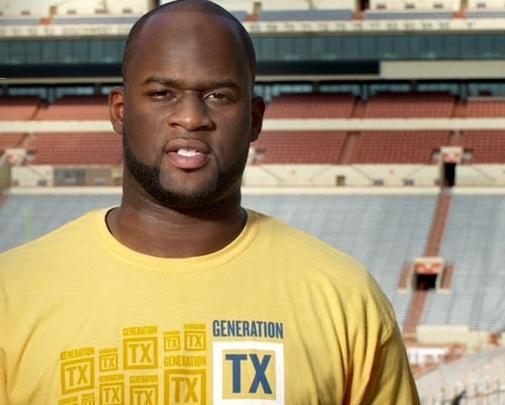 Former UT football star Vince Young is the spokesperson for a group encouraging Texas high school graduates to go to college.