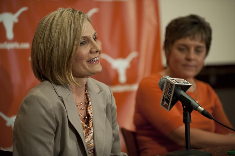 Karen Aston was announced as the new UT Women's Basketball coach at a press conference this morning.