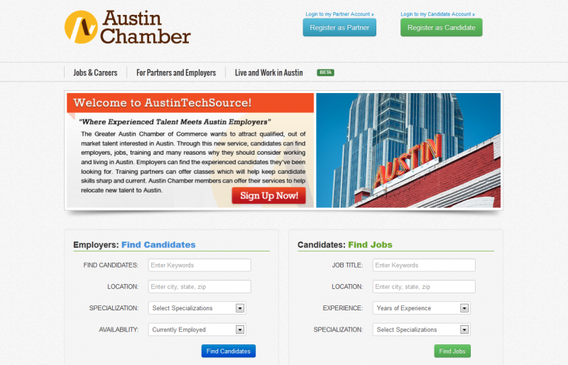 The Greater Austin Chamber of Commerce hopes this new website will attract new talent.