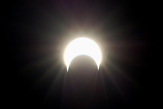 A solar eclipse viewed from Bangalore, India in 2010.
